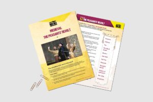 Medieval The Peasants' Revolt teacher resource pack by History Bombs.