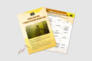 World War One (In One Take) teacher resource activity pack for KS3 students by History Bombs.