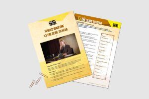 World War One The Slide To War teacher activity resource pack by History Bombs.