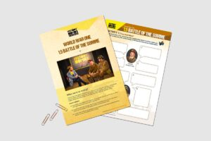 World War One Battle Of The Somme teaching resource activity pack for KS3 and GCSE students.