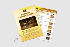 World War One Weapons In The Trenches teacher activity resource pack for KS3 students by History Bombs.