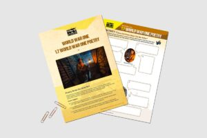 World War One Poetry teacher activity resource pack for KS3 students by History Bombs.