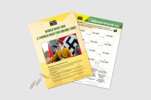 World War 2 (In One Take) teacher resource activity pack for KS3 students by History Bombs.
