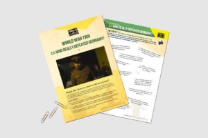 World War 2 Who Really Defeated Germany teacher activity resource pack for KS3 students by History Bombs.