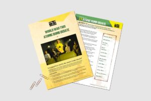 World War 2 Atomic Bomb Debate teacher activity pack for KS3 history students by History Bombs.