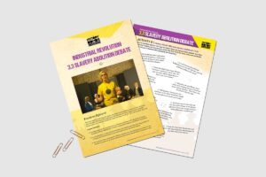 Industrial Revolution Slavey Abolition Debate history teacher resource activity pack by History Bombs.