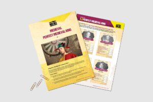 Medieval Perfect Medieval King teacher resource pack by History Bombs.