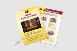 Medieval Medieval Castle Designs teacher resource pack by History Bombs.