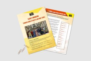 Early Modern Tudors and Stuarts (In One Take) teacher resource pack by History Bombs.