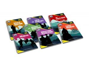 All of History Bomb's Teacher Handbooks including WW1, WW2, The Cold War and Medieval.